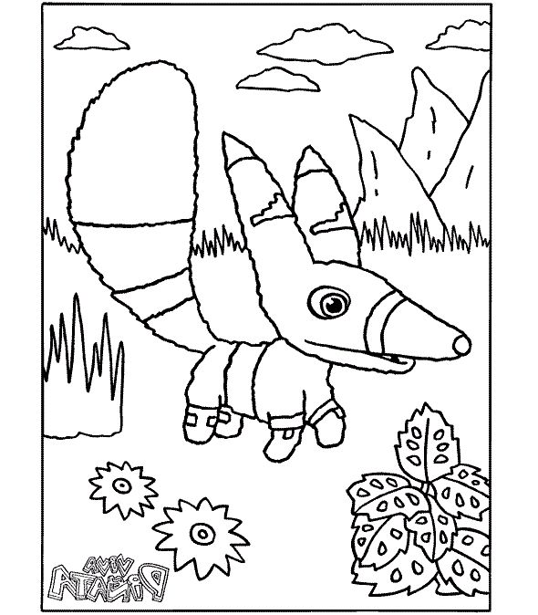 Viva Pinata Pretztail coloring picture for kids