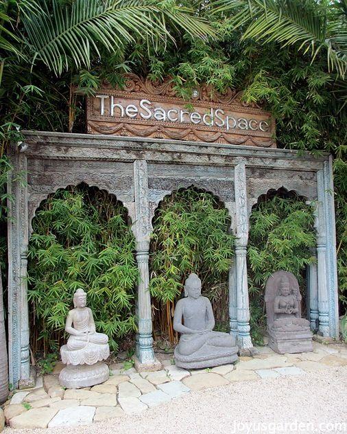 An Enchanted Balinese Style Garden .