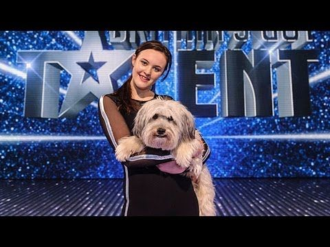Ashleigh and Pudsey - Britain's Got Talent 2012 Final - UK version.  You can tell this dog absolutely adores her