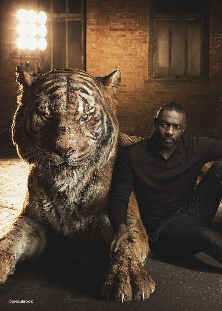 "Idris Elba as Shere Khan In ""The Jungle Book"" Idris Elba plays Shere Khan, a ruthless and predatory tiger that plagues the peaceful people of the Jungle."