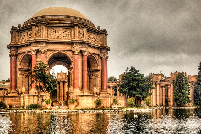 Palace of Fine Arts, S.F. The last remaining structure of the Pan-american exposition of 1914.  Fine example of his Ecole des beaux-arts education. #San Francisco: Panamerican Exposit, San Francisco California, Beaux Art Education, Palaces Of Fine Art, Favorite Places, Fine Example, Of Beauxart, Ecol Des, Fine Art
