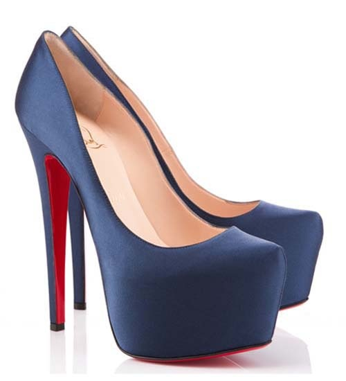 Louboutin navy heels
