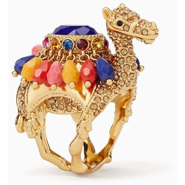 Kate Spade Spice Things Up Camel Ring (1,680 MXN) ❤ liked on Polyvore featuring jewelry, rings, charm rings, kate spade jewelry, tassel charms, tassel jewelry and multi color rings