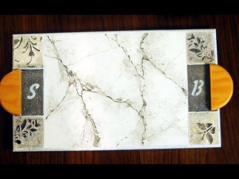 Como hacer Falsos acabados - Imitación Marmol - Lidia Gonzalez Varela - Eterna - YouTube