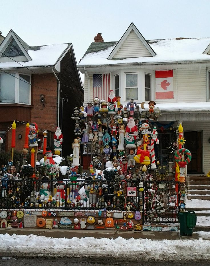 Doll house in Leslieville, Toronto