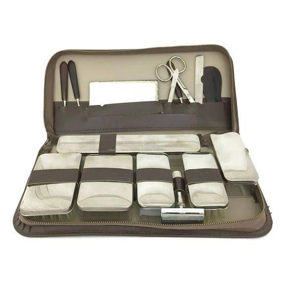 41ff7ea35ce0 Mid Century Mens Grooming Kit, Dopp Kit, Travel Case, Mens Travel ...