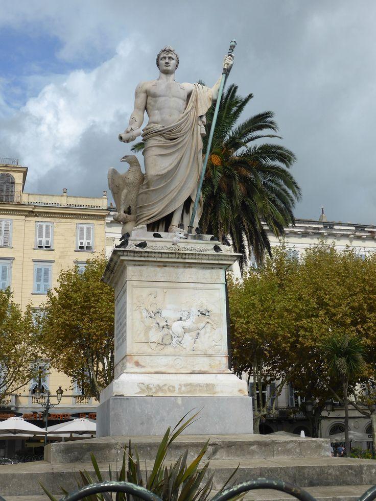 Bastia, statue of Napoleon Bonaparte at Place Saint-Nicolas