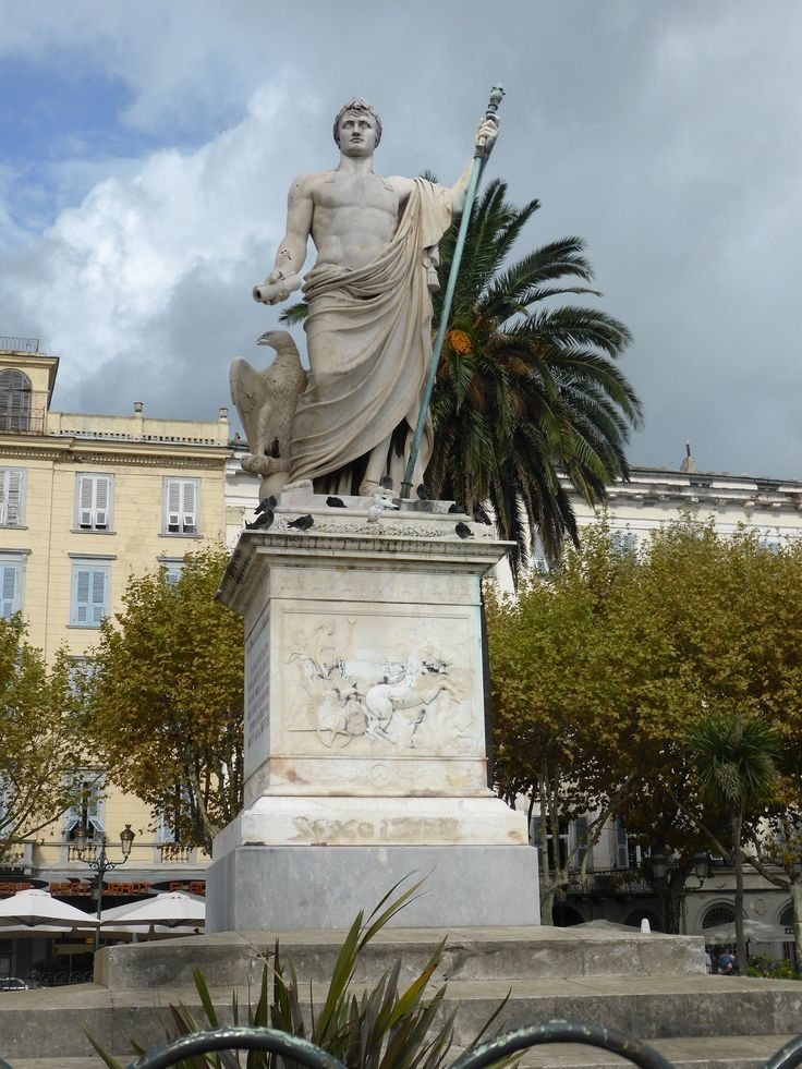 Bastia, statue of Napoleon Bonaparte at Place Saint-Nicolas