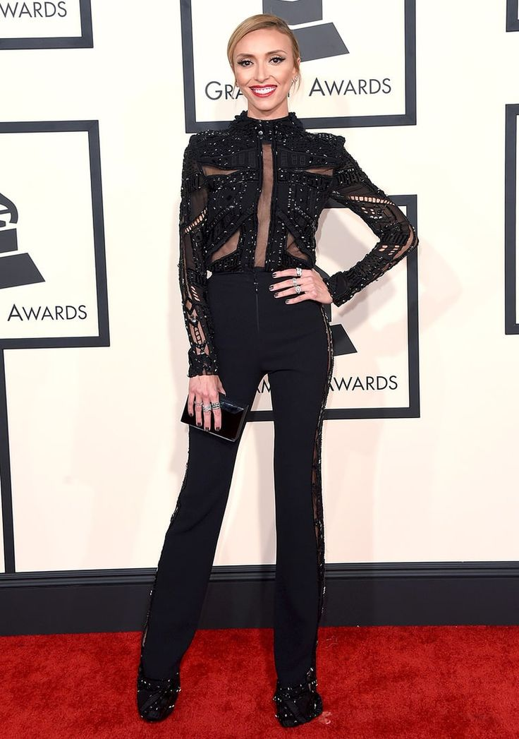 Giuliana Rancic Looks Slim in Sheer Pants Pants at Grammys 2015 ...
