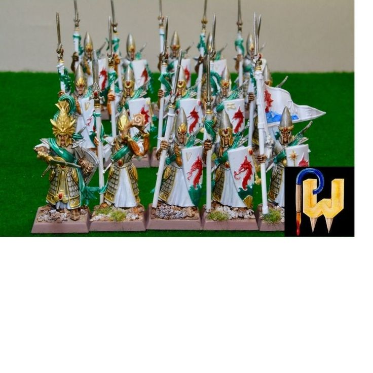 Warhammer Army Age of Sigmar AOS High Elf Elves Lothern Seaguard Painted