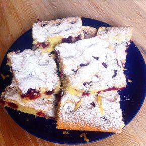Rezept: Schneller, leckerer Kirschkuchen aus der Dose   – Blechkuchen