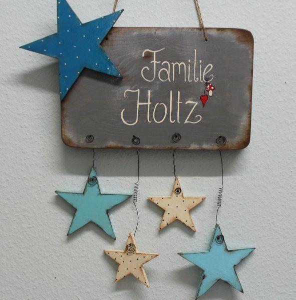 individuelle *Haustürschilder*  Auf Wunsch fertige ich Euch ein individuelles Haustürschild mit euren Namen.  Im Preis enthalten sind Schilder mit 4 Anhängern. Für jedes weitere Motiv...