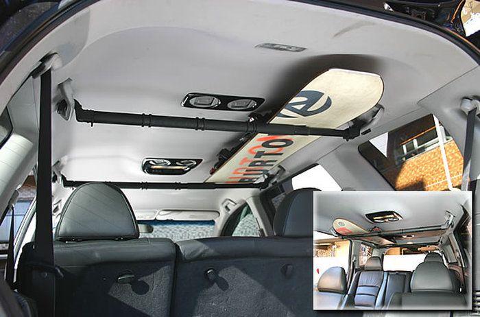 マルチグリップバー2本組(大切なボードは車内で収納!クルマに合わせて約85~140cmに伸縮自在。耐荷重約5kg)(関連用語//スノーボードサーフボード収納スッキリ)