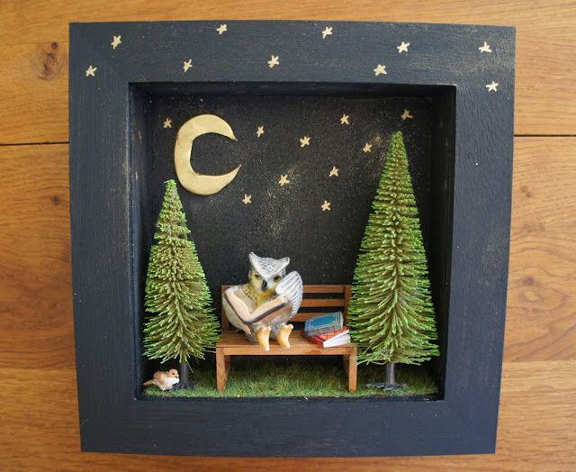 George The Owl The Reader Diorama Frame By Moon Amp Wood