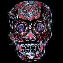 Роуз череп горный хрусталь шаблон человек одежда украшения