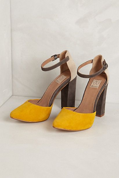 I want! Janie Colorblocked Pumps #anthropologie
