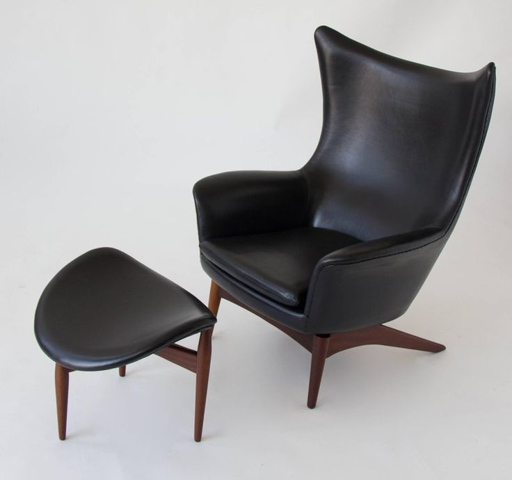 H.W. Klein Leather Reclining Lounge with Ottoman 2