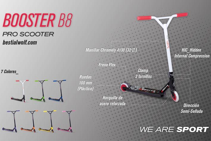 Patinete Bestial Wolf Booster B8
