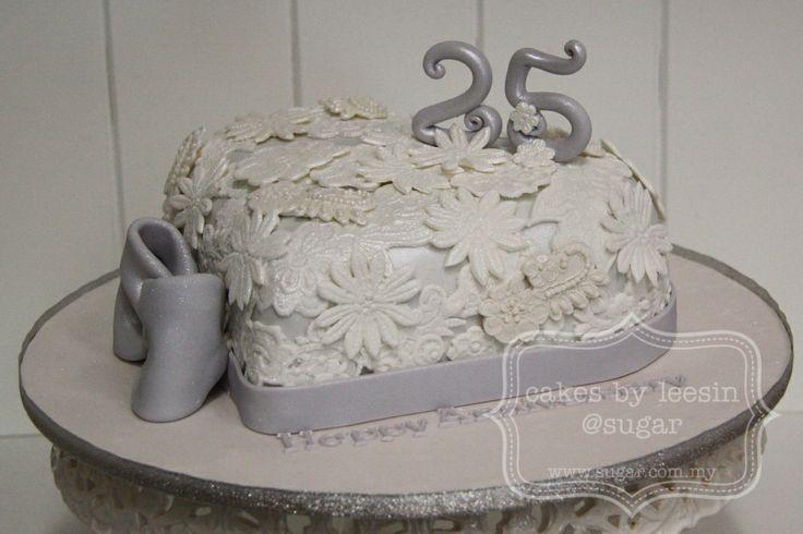 25th Anniversary Cakes 25th Wedding Anniversary Cake
