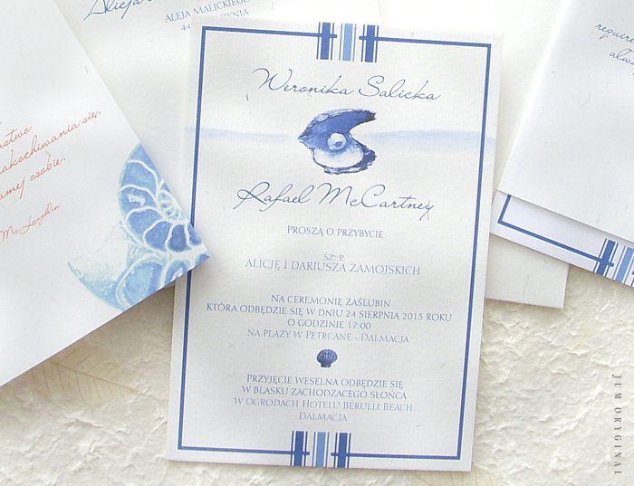 Zaproszenie bardzo delikatne i subtelne w przekazie. / Invitation very delicate and subtle in the announcement.