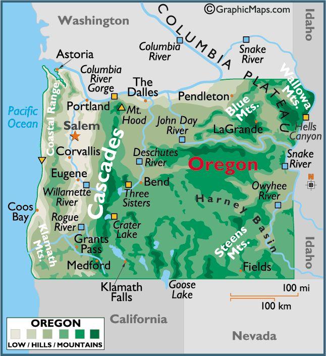 85 best Oregon Maps images on Pinterest Maps Oregon and