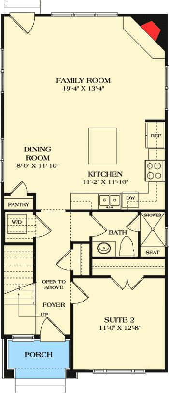 Best 25+ Narrow House Plans Ideas On Pinterest | Narrow Lot House Plans,  Sims 4 Houses Layout And Narrow House Designs