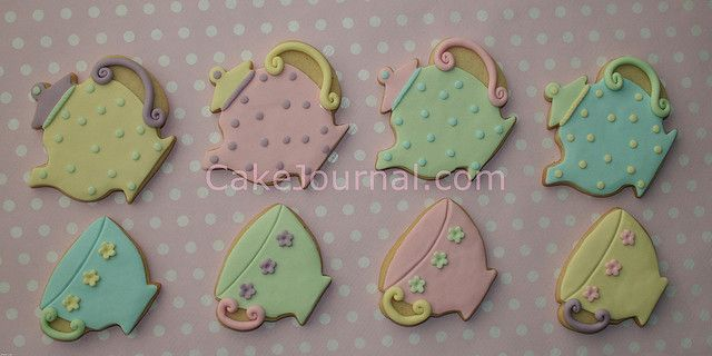 Teapot & teacup cookies by cakejournal, via Flickr