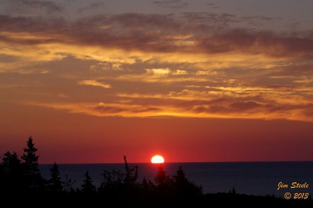 Finally! A beautiful sunrise in Cape Breton this morning. Jim Steele captured this orange sky at 5:41 AM. Enjoy!