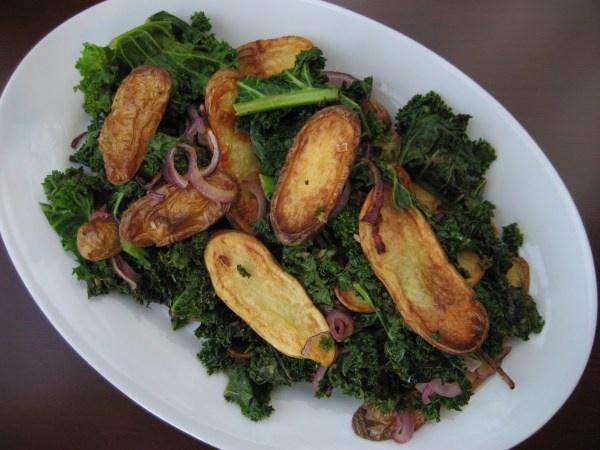 Kale and Roasted Fingerling Potato Salad | Food! | Pinterest