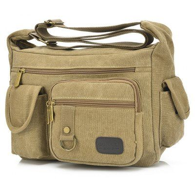 Just US$23.52, buy Men Stylish Vintage Canvas Shoulder Bag online shopping at GearBest.com Mobile.