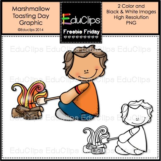 Freebie Friday ~ Marshmallow Toasting Day