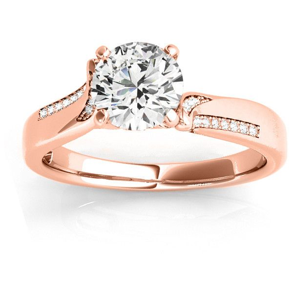 Allurez Diamond Pave Swirl Engagement Ring Setting 18k Rose Gold... ($1,420) ❤ liked on Polyvore featuring jewelry, rings, sparkly engagement rings, pave engagement rings, swirl engagement ring, engagement rings and pink gold rings