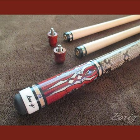 Pro Series Pool Cues for Sale - Laminated Snake Skin (with Joint Protectors)