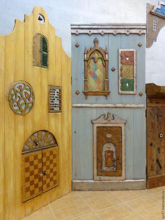 Кукольный театр ручной работы. Ширма для кукольного театра. Света Рыбалко. Ярмарка Мастеров. Театр, декоративные гвозди