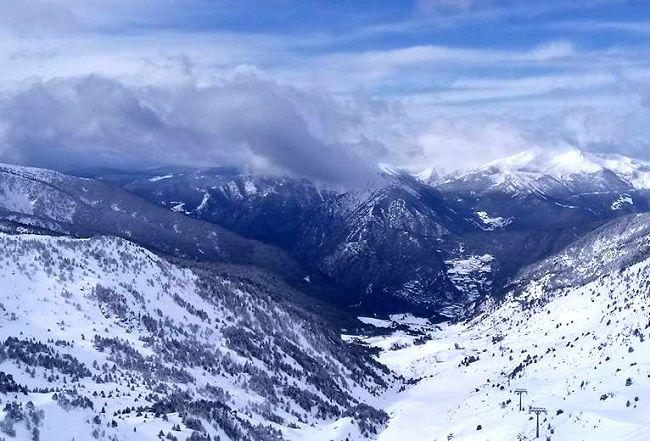 Station de ski de Grandvalira en Andorre, la plus grande des stations de ski des Pyrénées