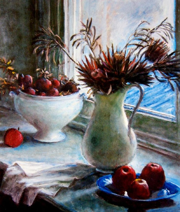 Proteas and Fruit - Margaret Olley