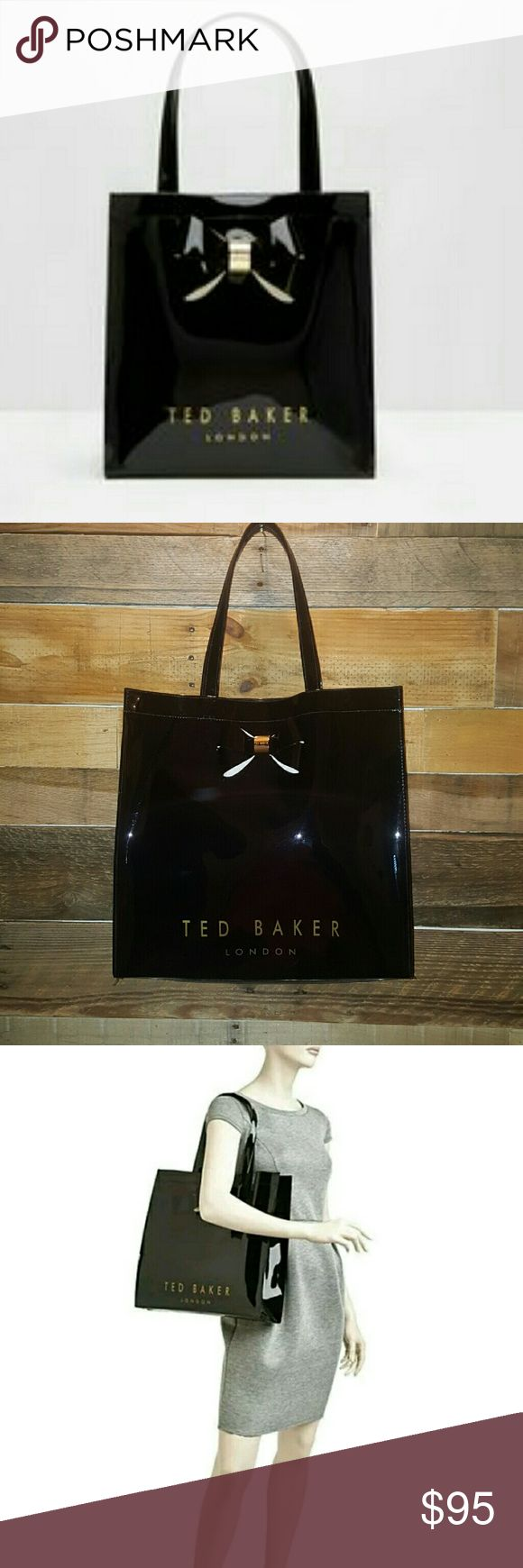 NWOT TED BAKER LONDON ICON BOW BLACK PATENT BAG TED BAKER LONDON BRAND NEW PRICE FIRM! WITHOUT TAGS/NEVER USED BLACK SIZE LARGE HIGHLY DESIRABLE! CUTE FUN TRENDY SGOULDER BAG PATENT DESIGN BOW DETAIL FRONT MAGNETIC CLOSURE TOP INSIDE ZIP POCKET LOTS OF ROOM *NO TRADES NO RETURNS* Ted Baker London Bags Shoulder Bags