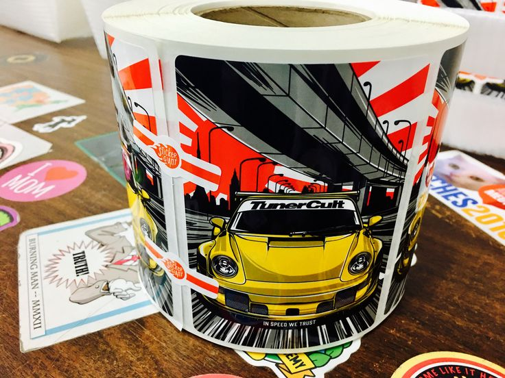 Tunercult with an awesome design printed on custom labels