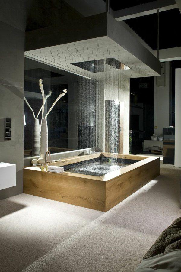 salle de bains grise, salles de bains luxueuses et belles