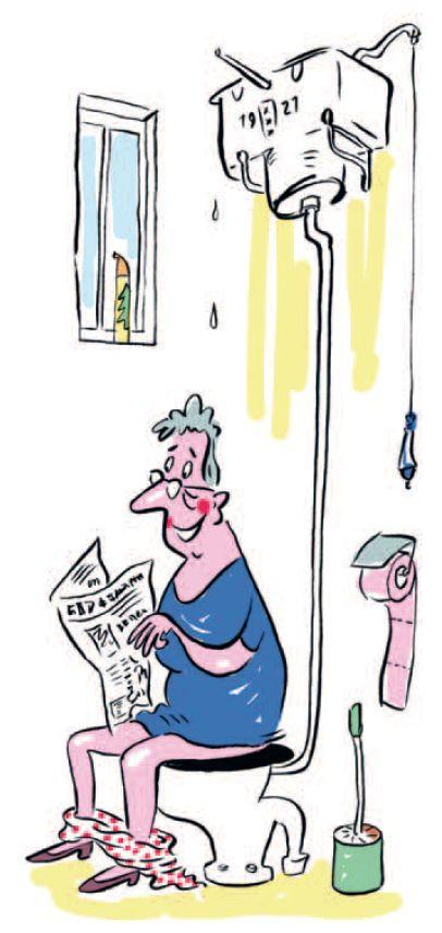 Oma op de wc