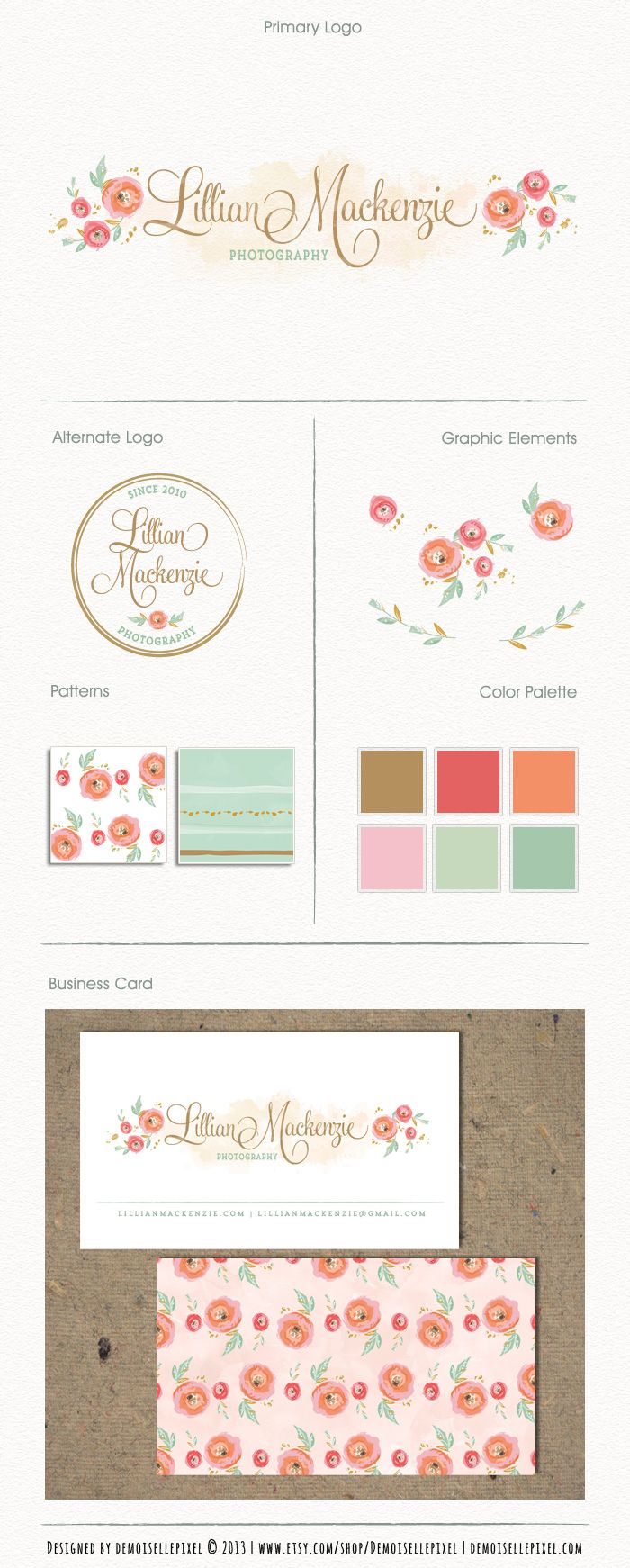 Premade Brand Identity Package at $99.90: https://www.etsy.com/listing/161069247/hand-drawn-brand-identity-package-with