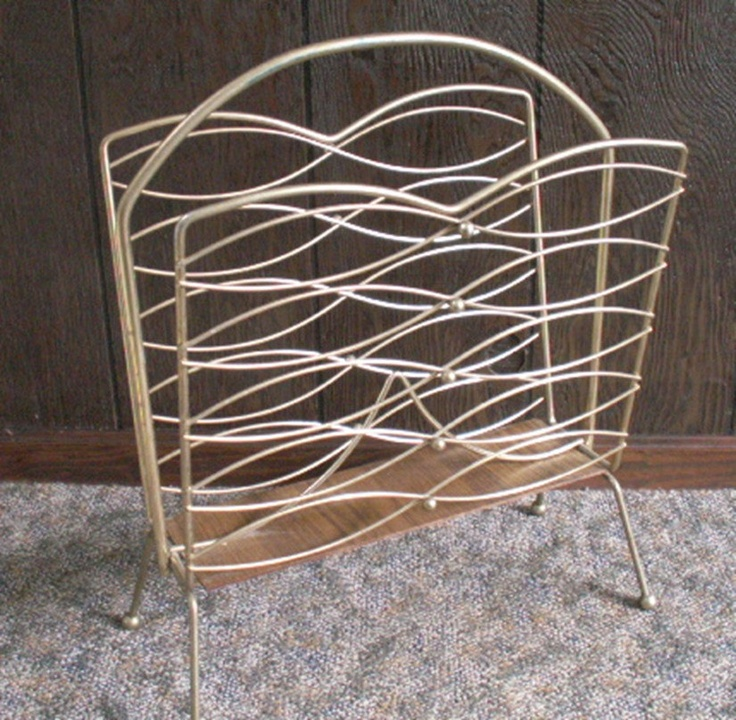 Record Magazine Rack Holder Retro Mid Century - Treasury Item. $28.00, via Etsy.