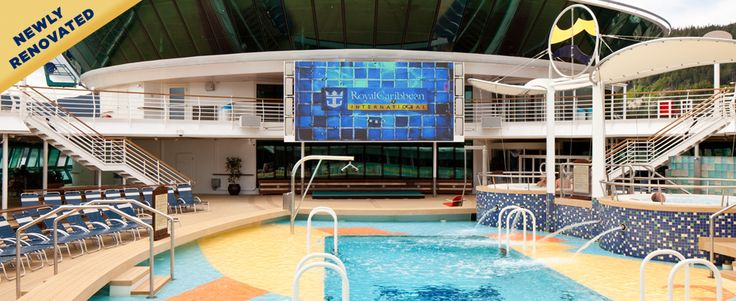 Radiance of the Seas - a big screen over the pool.... ahhh