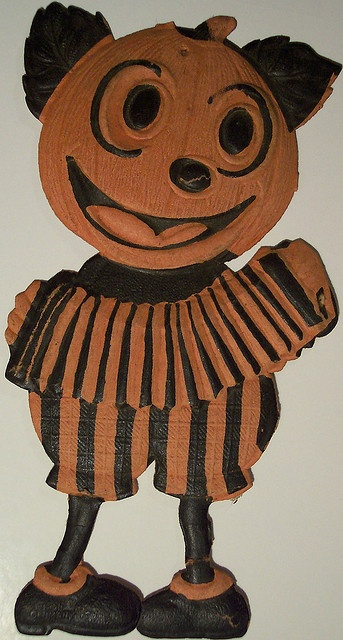 vintage german halloween diecut pumpkin man via flickr - German Halloween Decorations