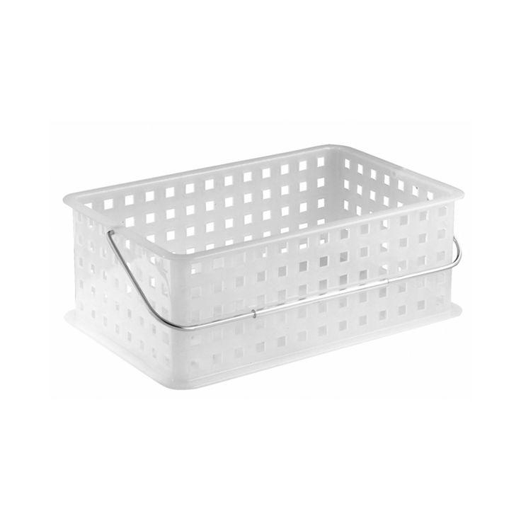 Amazon Com Interdesign Spa Basket Medium Frost