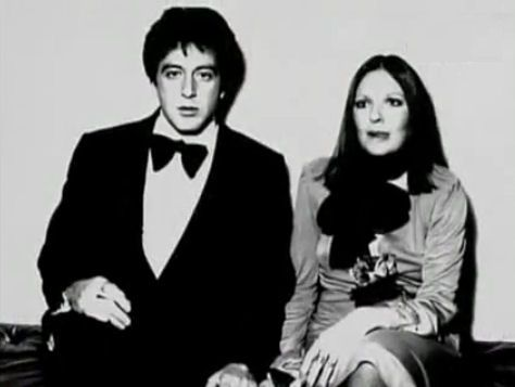 Al Pacino and Diane Keaton together at the Academy Awards.