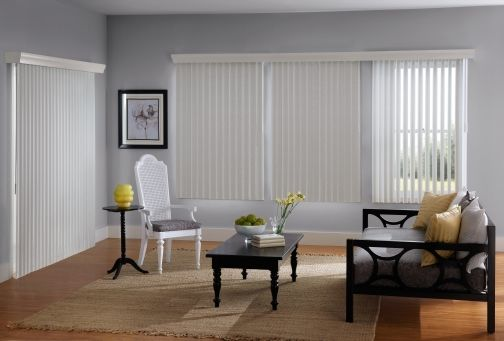 Vertical Shades: Evergreen choice for Patio Doors. Tons of fabric and vinyl options to choose from. http://www.windowinspirations.ca/