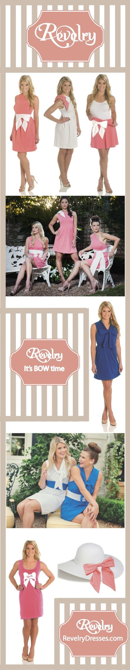 Sorority Bows and Recruitment Outfits! On trend sorority dresses for the perfectly proper chapter! On trend Recruitment Dresses!