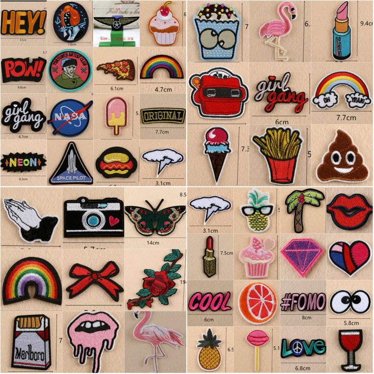 Embroidered Sew Iron On Patches Badge Fabric EBAY 0,99