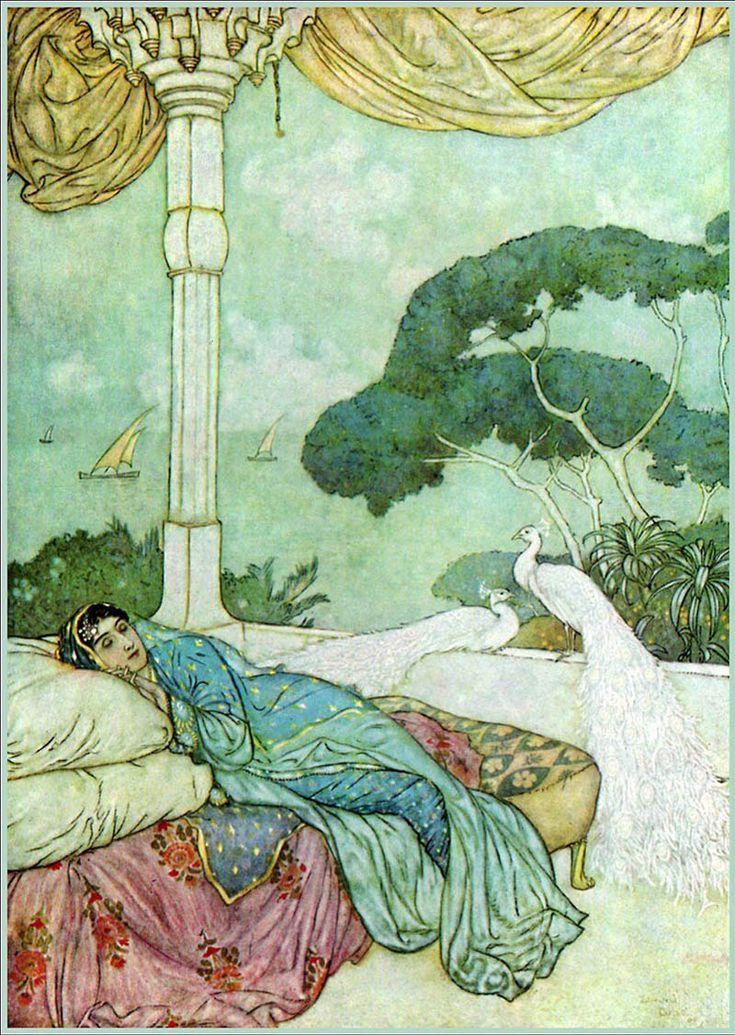marina_klimkova в Книжные иллюстрации Эдмунда Дюлака Эдмунд Дьюлак(Edmund Dulac; 1882–1953) родился во французском городе Тулузе. Художественное образование он получил в…